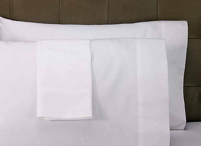 24 NEW BRIGHT WHITE T200 PREMIUM PILLOW CASES STANDARD SIZE HOTEL GRADE