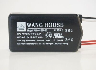 New Wh-601e6a3c 12v60w Wang House Low Voltage Halogen Electronic Transformer A2