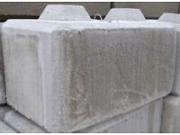Concrete block walling barrier