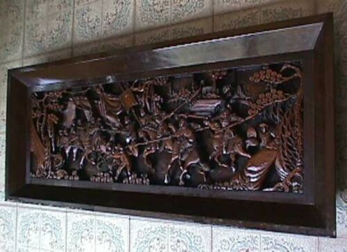 Chinese Hand-Carved Wall Plaque