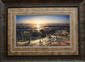 Terry Redlin Best Friends Dog Waterfowl Hunting Print-Framed
