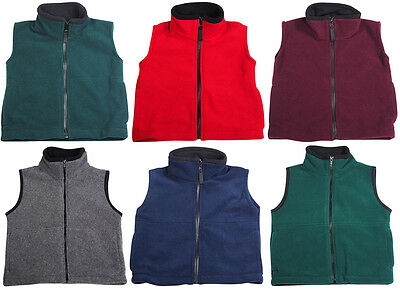Rifle Kaynee Boys Heavyweight Polar Fleece School Uniform Full Zip Up Vest
