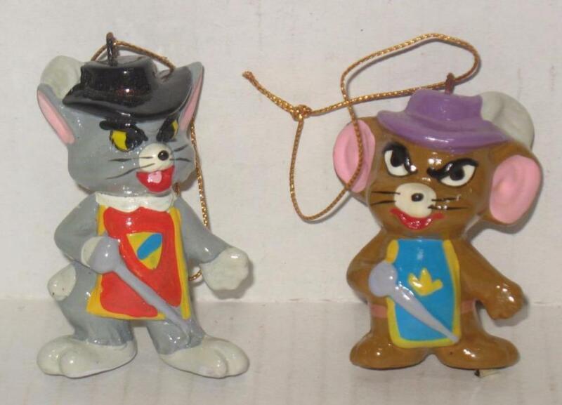 Vintage Tom & Jerry Cartoon Christmas Ornaments Made in Korea