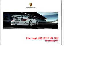 Porsche 911 GT3 RS 4.0 2011 Sales Brochure - English - 62 pgs - Hardback