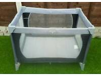 Grey and black travel cot only £7 excellent clean condition