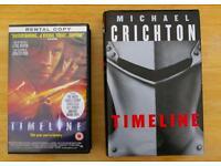 Michael Crichton 'Timeline' Hardback Book + 'Timeline' Video, (sell separately)