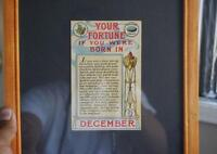 Rare & Antique 1909 Horoscope - Born in December - 106 years old