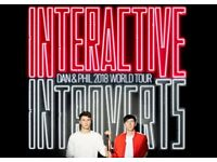 Dan and Phil 2018 World Tour - Interactive Introverts SEC Armadillo, Glasgow, Sun 6 May 2018, 18:30