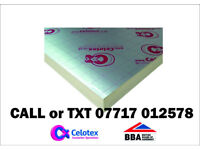 100mm Celotex Foil sided Insulation board. NEW 1200x 2400mm similar to Kingspan Xtratherm