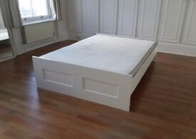 BRIMNES - Ikea White Wooden Double Bed - Perfect Condition - £68