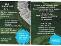 E&B LANDSCAPE LTD. FAST AND RELIABLE GARDENING SERVICE WITH REASONABLE PRICES