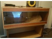 large vivarium with stand and extras