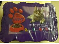 Tesco Cat food chunks in gravy mixed packet of 12 x 400g