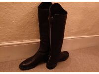 GUCCI MAUD LEATHER KNEE BOOTS