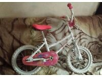 white bike 14 inch very good like new