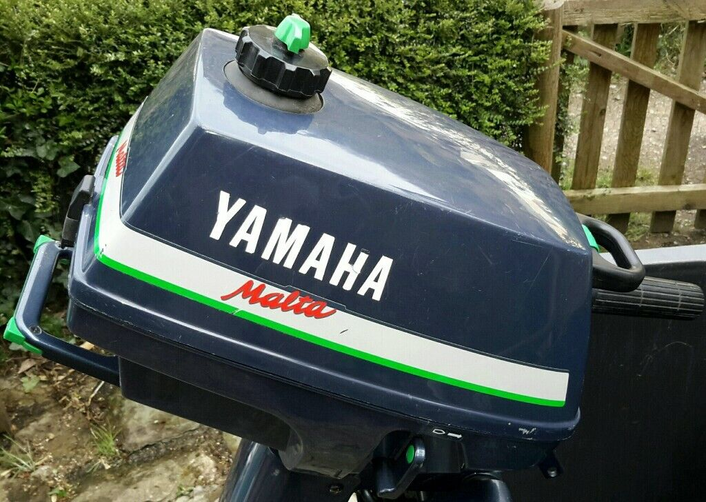 Outboard motor, Yamaha Malta, 3hp, 2 stroke, hardly used, less than 20  hours, stored indoors  | in Ilfracombe, Devon | Gumtree