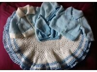 brand new hand knitted circular blanket & sets