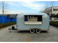 Airstream Catering Trailer Burger Van Pizza Trailer Food Cart 4000x2000x2350