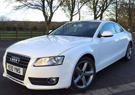 2010 AUDI A5 TDI 170 DIESEL 6 SPEED MANUAL WHITE 2 DOOR COUPE
