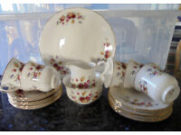 Queen Anne Fine Bone China Tea Set - Vintage