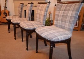 Set of four 1950/60's vintage dining chairs