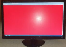 """Prolite 27"""" inch FHD 1080p VESA mountable monitor with stand & all cables needed!"""