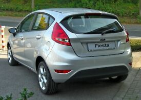 Genuine 07-2012 Ford Fiesta (offside) drivers front+rear door complete (silver)
