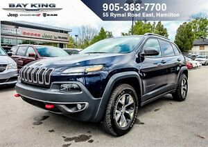 2016 Jeep Cherokee TRAILHAWK, 4X4, NAVI, PANO SUNROOF, BACKUP CA