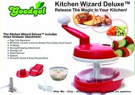 Kitchen Wizard Deluxe Food Processor (It chops, slices, dices, spins, mixes & More)