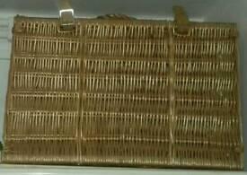 X.L. Wicker Picnic Or Storage Basket.