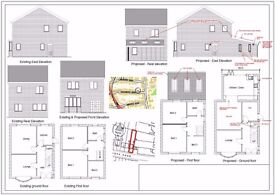 Plans & Drawings for Extensions, Conversions, New builds, Conservatories for Planning applications