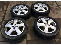 """FULL SET GENUINE FORD 16"""" RONAL ALLOY WHEELS ET52.5 WITH TYRES 205 50 16"""