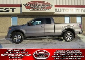 2013 Ford F-150 Grey FX4 Off Road 4x4, Custom Exhaust, Leather,