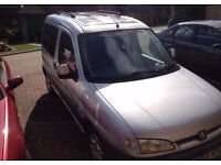 2002 PEUGEOT PARTNER QUICKSILVER (spares or repair needs a new clutch)