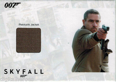James Bond 007 Autograph & Relic Skyfall SSC5 Costume Card Ola Rapace as Patrice - Skyfall Costumes