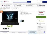 MEDION Gaming Laptop, Intel Core i7-6500U ProC, Ram8 GB, 1TB HDD+128GB SSD,NVIDIA GeForce GTX 950M