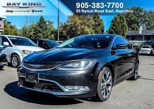 2015 Chrysler 200 C AWD, GPS NAV, SUNROOF, BACKUP CAM, REMOTE ST