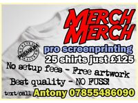Custom T-Shirt Screen-printing services for bands/businesses [MERCHMERCH]