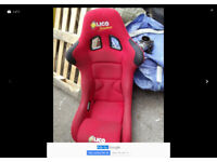 BUCKET SEAT LICO RED RACE RALLY FAST ROAD