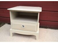 Bedside cabinet by the maker 'Stag' hand painted and detailed