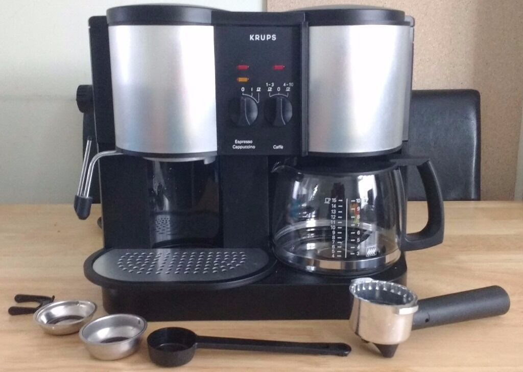 Krups coffee espresso machine 874 cafe presso crematic coffee maker in hendon london gumtree - Machine a cafe krups nespresso ...