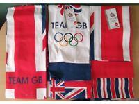 Lot of 3 Team GB Set of 3 Tea Towels UNUSED aldi, olympics, rio 2016, kitchenware, kitchen