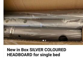 BARGAIN TO CLEAR Silver headboard to fit a standard single bed