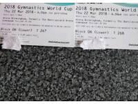 Women's gymnastics world cup tickets (Birmingham 22nd march)
