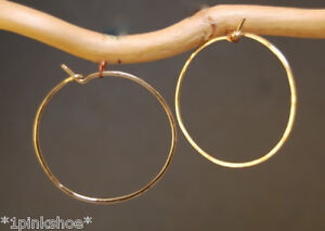 Hammered Hoop Earrings, Choice of Size & 14K Gold or Sterling Silver