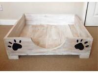 New Beautiful Handmade Wooden Dog Bed