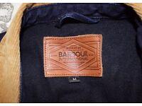 Men's medium Barbour international denim jacket