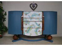 Vintage Sideboard Cabinet Storage Buffet Dresser Annie Sloan Chalk Paint