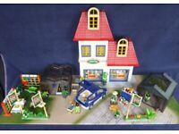 Playmobil City Life Garden Centre ex Shop Display with Greenhouses, Figures & Car