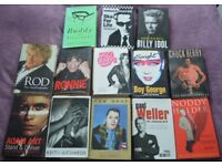 autobiographies (pop stars) hardback x 13 all in great condition buyer collects